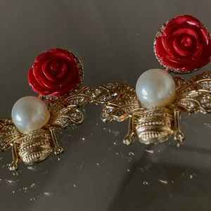 Gucci Bee Rose Earrings
